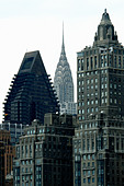Art Deco Chrysler Building in New York City USA - Stock Image - AT64TY