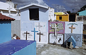 colourful cemetery in Cozumel Mexico - Stock Image - A8YNYF