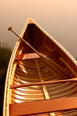 Hand Built wooden canoe Cape Cod Massachusetts - Stock Image - A6NC5A