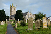 St Constantine village church at Constantine Cornwall - Stock Image - A6G3GT