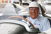 Goodwood, UK. 28th June, 2015. Sir Stirling Moss 16 time F1 GP winner, Goodwood, UK, 28th June 2015 © Rally-Pics/Alamy Live News - Stock Image - EWKECB