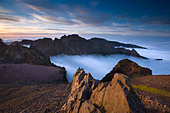 Madeira Mountain scenery at Pico de Arieiro - Stock Image - AGJ4HE