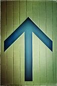 Up arrow sign - Stock Image - S042CF