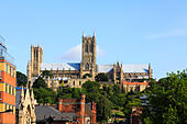 Lincoln Cathedral, Lincoln, England - Stock Image - EFJCCR