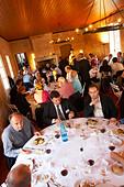 gala dinner at citadelles du vin wine competition bourg bordeaux france - Stock Image - BEAW4R