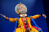WOMAD Festival, Charlton Park, Wiltshire, UK. 24th July, 2015. Kala Chetena Kathakali Company perform on the Big Red Stage at WOMAD Festival held in Charlton Park, . 23 July 2015. © Adam Gasson/Alamy Live News - Stock Image - EY93J9