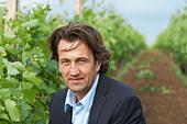Christophe Dussutour, manager, winemaker chateau trottevieille saint emilion bordeaux france - Stock Image - BEAW2K