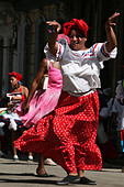 Street carnival in the historical centre of Havana, Cuba. - Stock Image - C93GPW