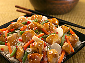 chicken teriyaki - Stock Image - D9WR66