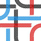 Seamless wallpaper tire tracks pattern illustration vector background - Stock Image - DNKRM6