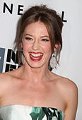 New York, New York, USA. 26th Sep, 2014. Actress CARRIE COON attends the 2014 New York Film Festival Opening Night Gala and world Premiere of 'Gone Girl' held at Alice Tully Hall in Lincoln Center. © Nancy Kaszerman/ZUMA Wire/Alamy Live News - Stock Image - E80A5N