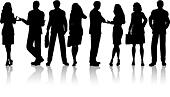 Silhouettes of business people - Stock Image - DNN568