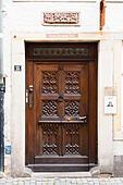 Door detail, Schnoor, Bremen, Germany - Stock Image - E6RAT2