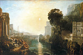 'Dido building Carthage' or 'The Rise of the Carthaginian Empire' - painting by Joseph Mallord William Turner, 1815. JMWT, - Stock Image - B0DT20