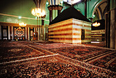 Palestine, West Bank, Hebron, Cenotaph of Rebekah, Ibrahimi Mosque - Stock Image - AC1F70