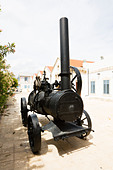 Old steam engine, Larnaca, Cyprus. - Stock Image - E1JFXR