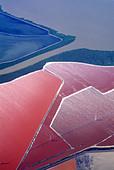 Aerial,salt evaporating ponds,San Francisco Bay California - Stock Image - B77R3A