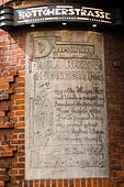 Detail from the Paula Becker Modersohn house, Bottcherstrasse, Bremen, Germany - Stock Image - E6RARY