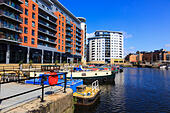 Clarence Dock, River Aire, Leeds, Yorkshire, England - Stock Image - EX8E40