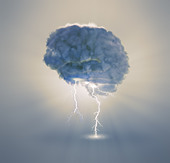Brainstorming and creativity concept illustration - Stock Image - CN07GJ