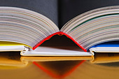 Top of an open book - Stock Image - BA852W
