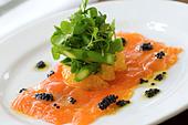 Salmon entree - Stock Image - BA1TFX
