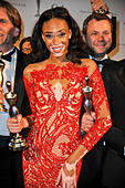 Baden- Baden, Germany. 21st Mar, 2015. Canadian model Chantelle Winnie arrives to the Gala Spa Awards 2015 ceremony where she received the 'Beauty Idol of the Year' award for her handling of her skin disorder in Baden-Baden, Germany 21 March 2015. © dpa picture alliance/Alamy Live News - Stock Image - EJ65YM