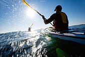 People kayaking, Sweden. - Stock Image - BMEA2W