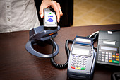 NFC - Near field communication / mobile payment - Stock Image - D8P9J9