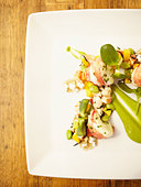 Close up of lobster entree - Stock Image - BXE338