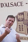 Philippe Blanck owner domaine p blanck kientzheim alsace france - Stock Image - C0TDHC