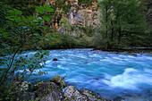 River in Caucasus mountains, Abkhazia, Georgia - Stock Image - EFN8J4