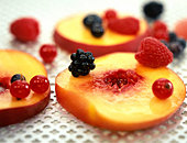 composition with summer fruit - Stock Image - B43C17