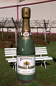 "Big bottle of ""champagne"" at Georges Aubert Winery, Bairro Cairu, Garibaldi, southern Brazil - Stock Image - AXD52N"