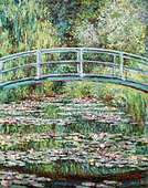 """fine arts, Monet, Claude, (1840 - 1926), painting, ""Pont Japonais a Giverny"", (""Japanese bridge at Giverny""), 1899, oil on - Stock Image - A3Y1BM"