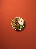 Dinner plate - Stock Image - D9WT6G
