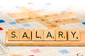 Scrabble - Salary - Stock Image - E159BC