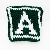 Knitted letter A  woollen lettering. - Stock Image - ED87C9