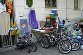 Bicycles for sale on the streets of Sukhumi (Abkhazia) - Stock Image - AA9YP5