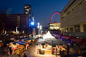 Royal Festival Hall food market, South Bank, London, UK - Stock Image - EKY141