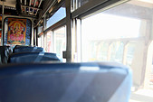 Empty seats on bus - Stock Image - CTYXRK