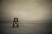 Moody lifeguard stand on beach, Cape Cod, MA - Stock Image - C04K8H