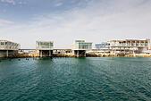 Limassol new marina units awaiting occupation. - Stock Image - E9YYRW