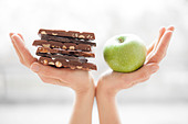 Balanced diet, conceptual image - Stock Image - D6HA4B