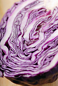 Close-up of a red cabbage - Stock Image - B43D7B
