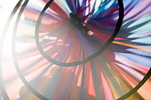 Close up of a pin wheel - Stock Image - B2WBNW