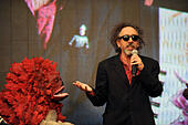 Tokyo, Japan. 31st Oct, 2014. Film director Tim Burton attends ''The world of Tim Burton'' exhibition opening ceremony during the 27th Tokyo International Film Festival at Roppongi Hills on October 31, 2014 in Tokyo, Japan. © Hiroko Tanaka/ZUMA Wire/Alamy Live News - Stock Image - E9PH6G