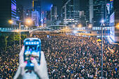 Hong Kong, 29 September 2014. Hong Kong Protests: people are occupying in Admiralty, Causeway Bay and Central of Hong Kong for a protest. © kmt_rf/Alamy Live News © kmt_rf/Alamy Live News - Stock Image - E83APD