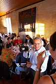 gala dinner at citadelles du vin wine competition bourg bordeaux france - Stock Image - BEAW4W