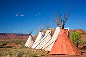 Teepees near Moab Utah - Stock Image - BA05E7